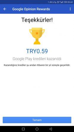 Google Ödüllü Anketler Uygulaması Türkiye'de