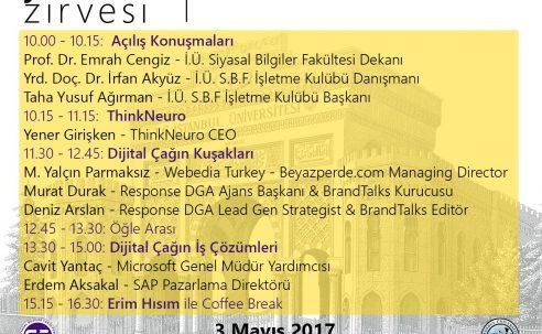 Davet: Dijital Çağda Pazarlama Zirvesi (3 Mayıs 2017)
