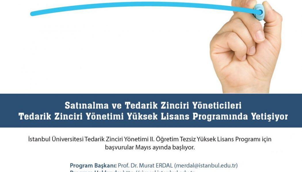 Tedarik Zinciri Yönetimi Yüksek Lisans Programı Başvuruları Başladı.