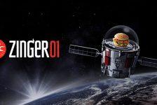 """Dünyanın en iyi tavuk burgeri """"Zinger Burger"""" artık uzayda…"""