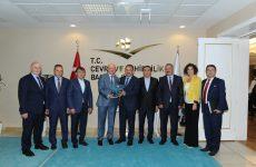 TPF Heyetinden Çevre ve Şehircilik  Bakanlığı'na ziyaret